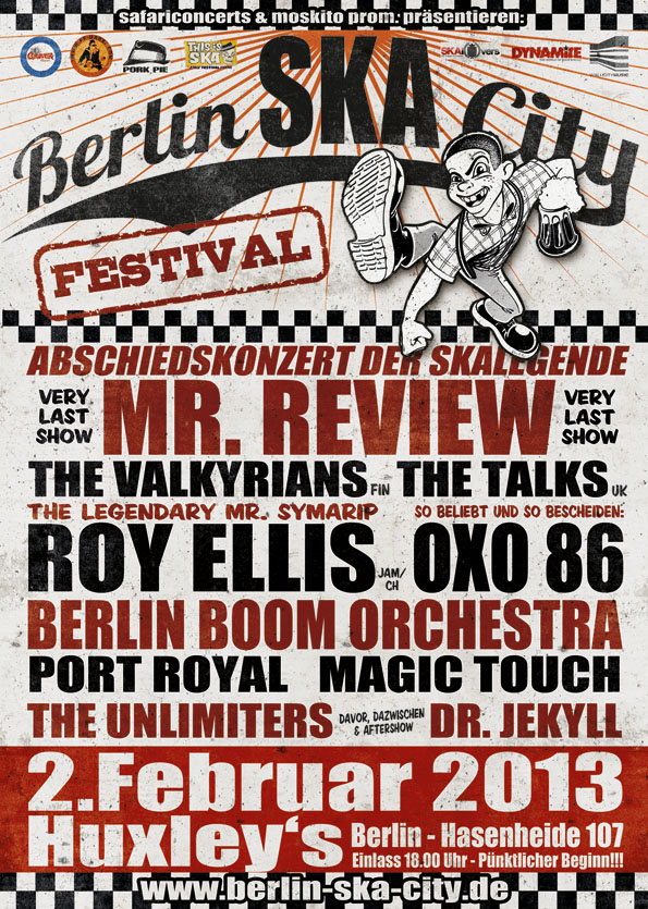 Berlin Ska Festival Flyer