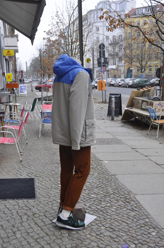 Berlin street with headless mannequin