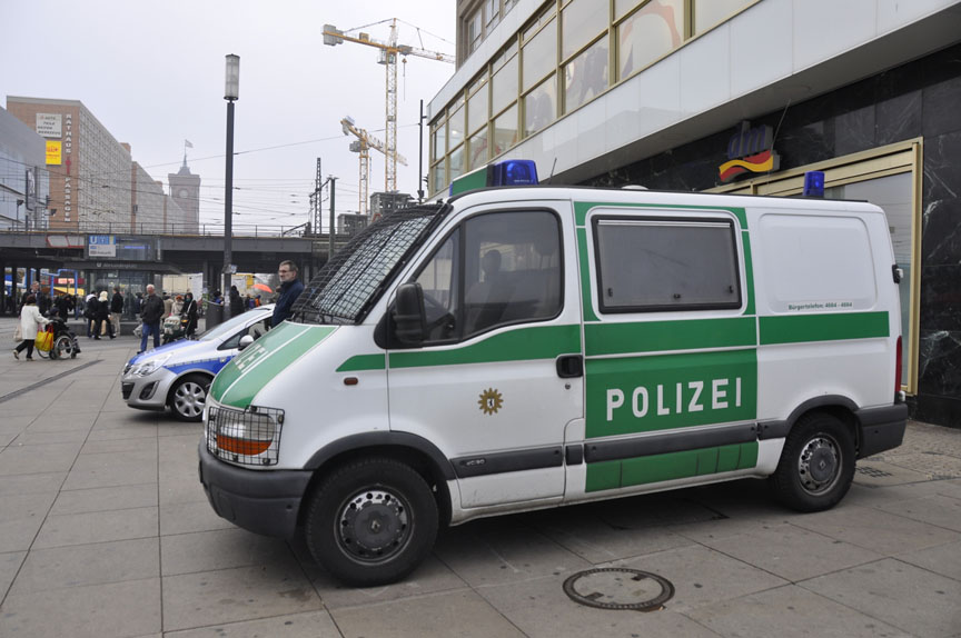 German police van in Berlin