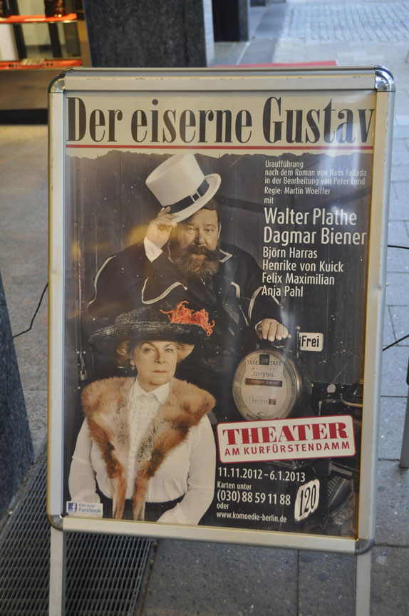 Poster for a play in Berlin