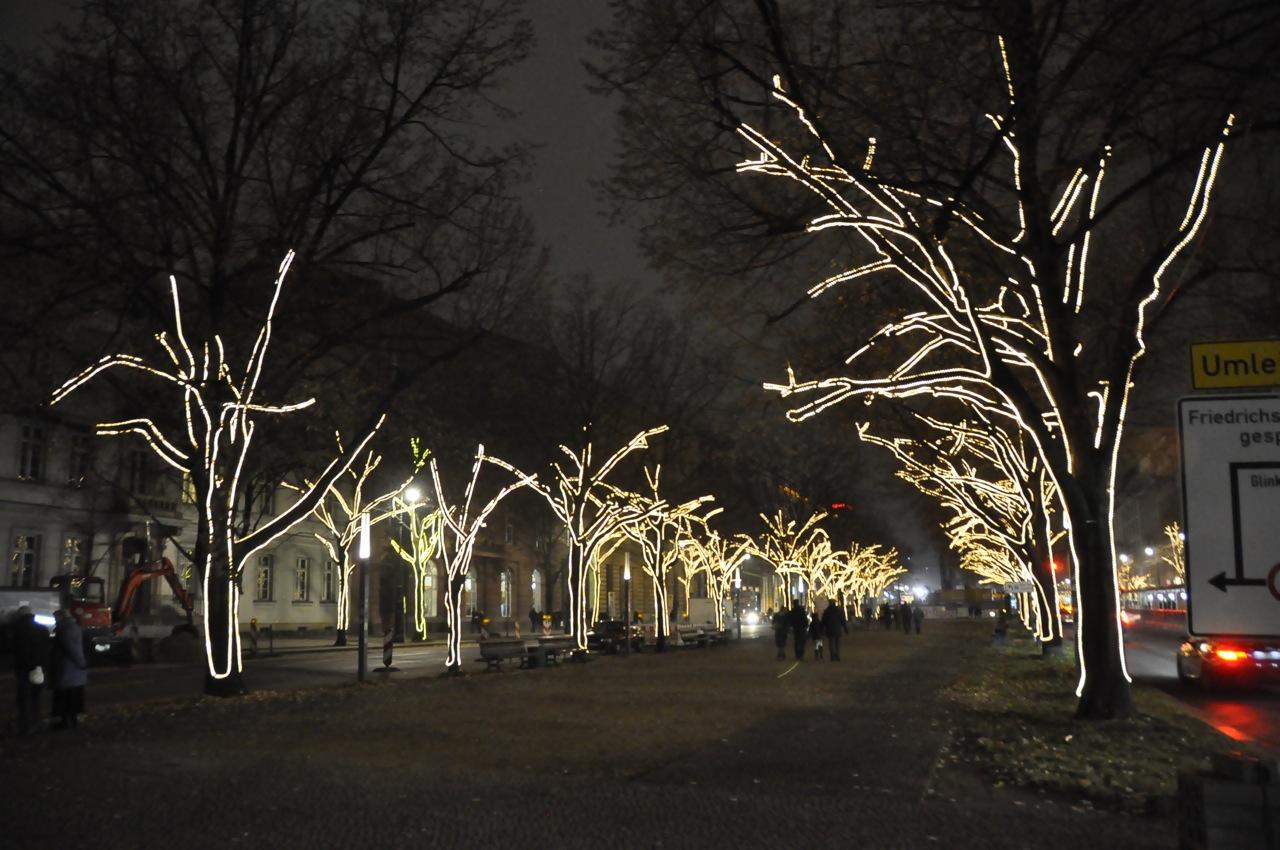 Unter den Linden Christmas lights