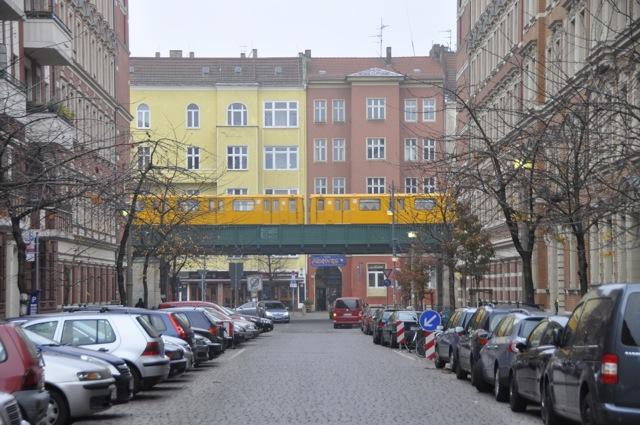Prenzlauer Berg with elevated metro in 2012