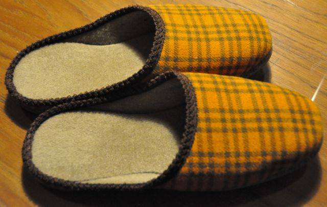 My new locally made slippers