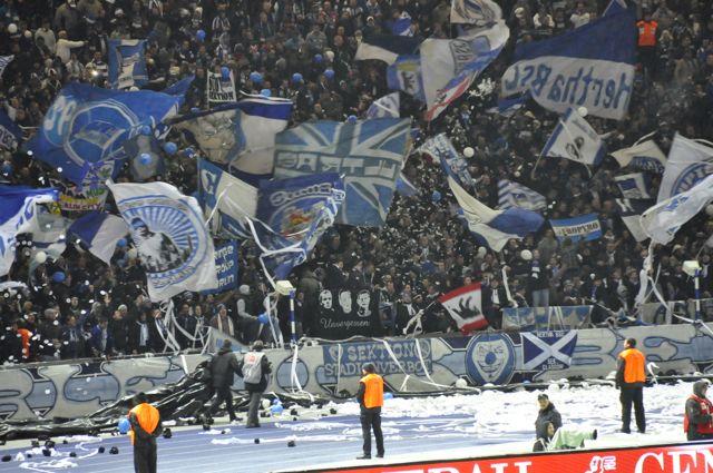 Hertha Berlin soccer fans