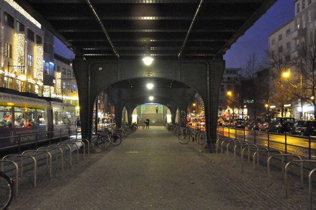 Under the U-Bahn on Schönhauser Allee, Berlin