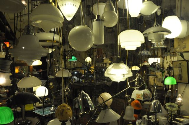 Cool retro lamp shop in Berlin
