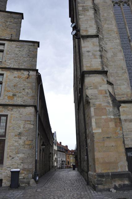 View down an Osnabrück street