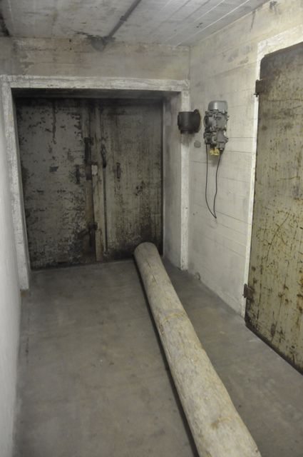 Entering the bunker