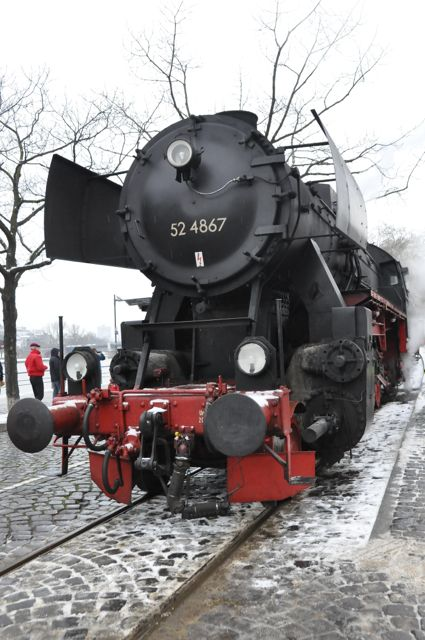 Steam engine train in Frankfurt