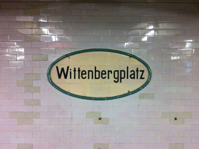 Wittenbergplatz U-Bahn sign