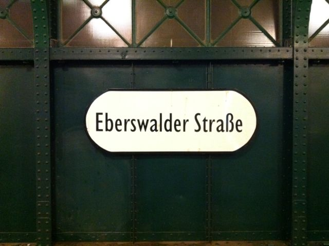 Eberswalder Strasse U-Bahn sign