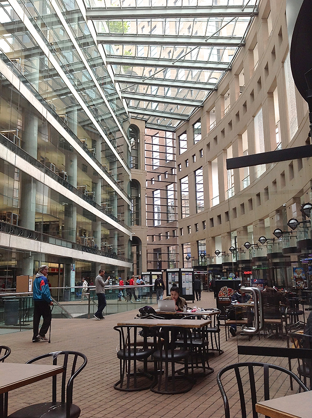 Vancouver Public Library interior view.