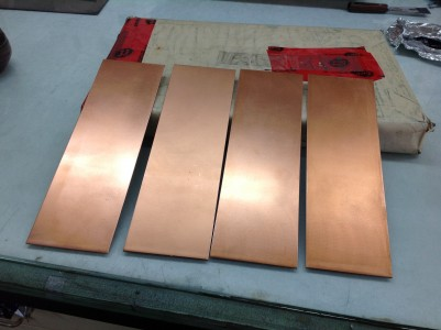 Copper plates for etchings