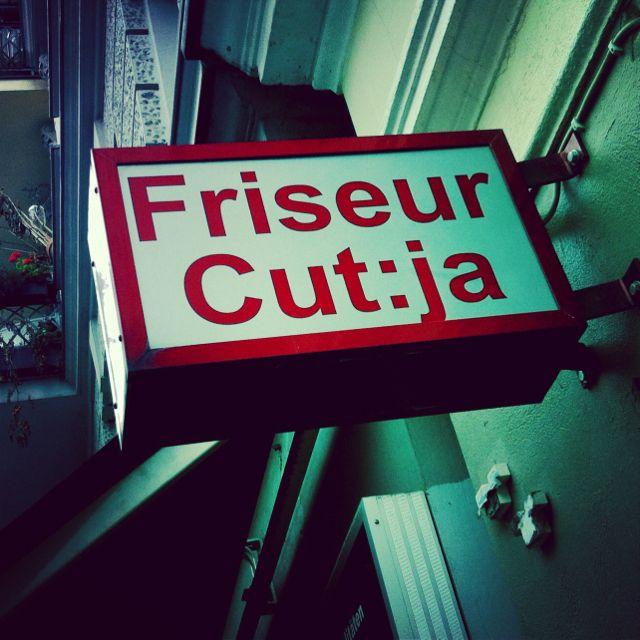 Hairdresser signage
