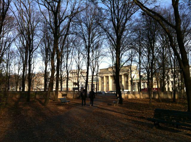 Brandenburg Gate from the Tiergarten Park, Berlin