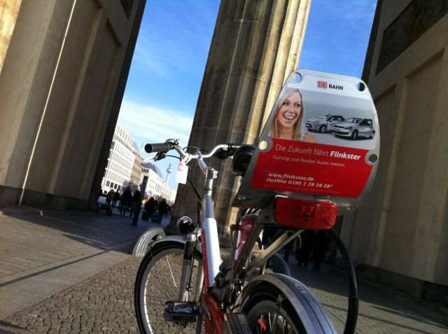 Cycling through the Brandenburg Gate