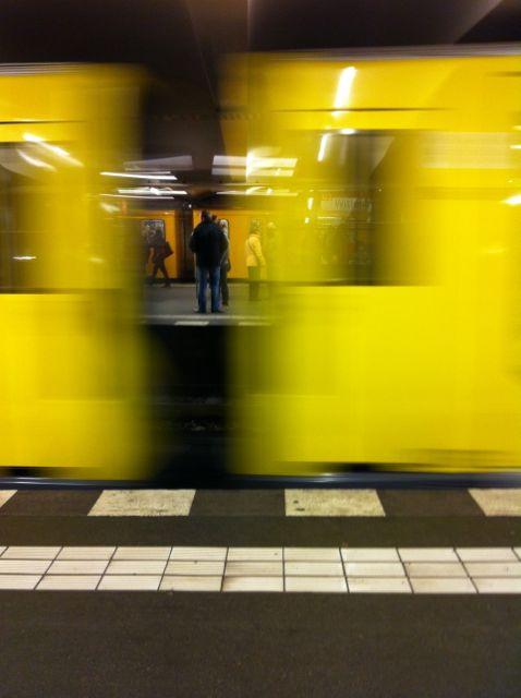 In the metro in Berlin