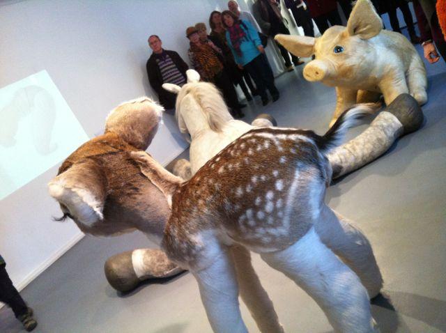 Katharina Moessinger and Elisabeth Matthewes gallery opening
