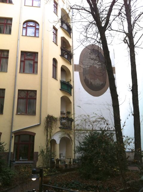 Berlin residential building courtyard