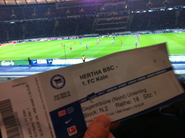 Hertha Berlin soccer game