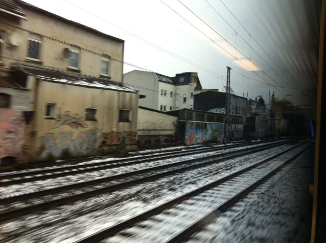 Photographed from the regional train Wuppertal-Remscheid