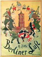 """Poster """"Berliner Luft"""" by Heinrich Zille"""