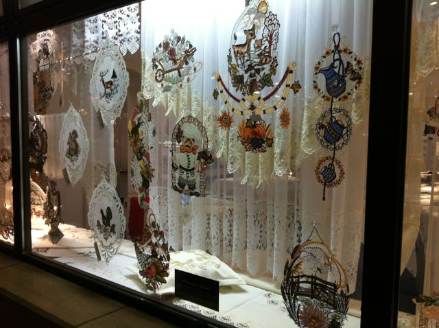 Traditional lace from the former East German area of Plauen