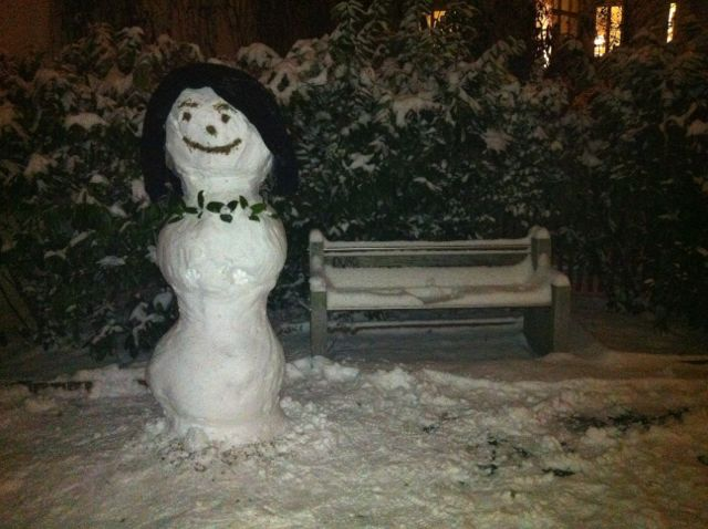 Berlin snow man