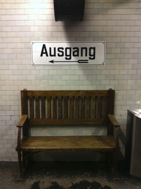 Berlin U-Bahn bench