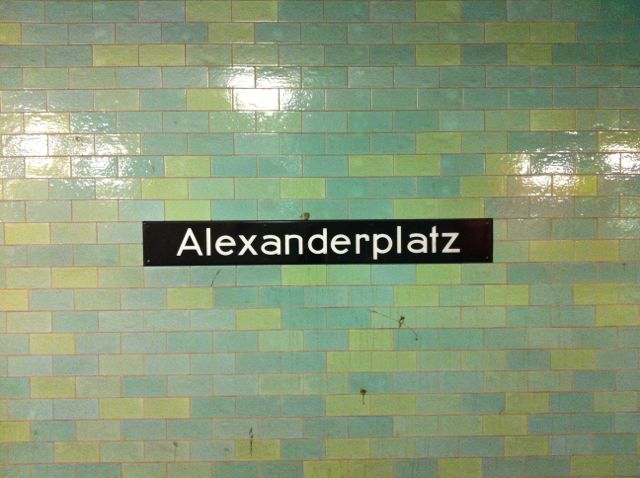 Alexanderplatz U-Bahn sign