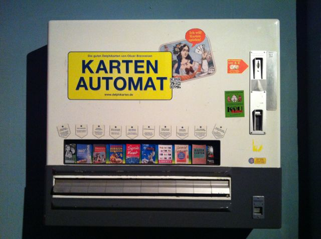 Old cigarette dispenser, Germany