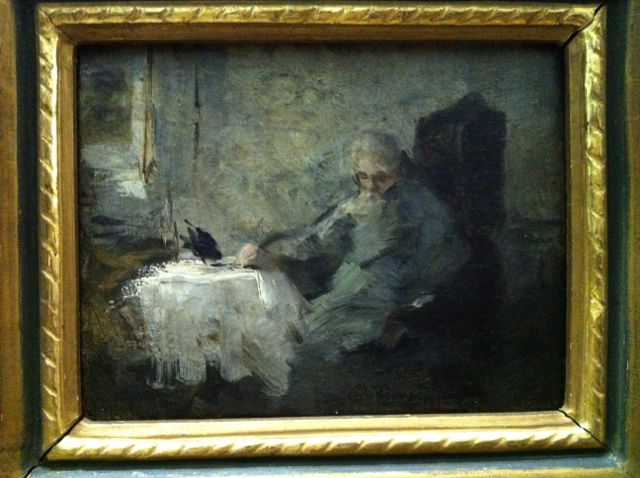 """Old Man and Raven"" by Ilja Repin, 1885"