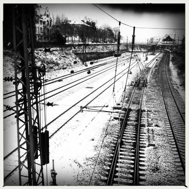 Train tracks in Worms