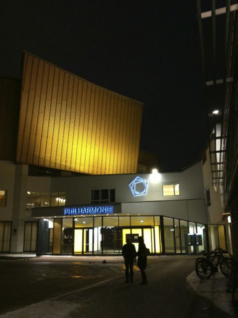 The outside of the Berlin Philharmonic concert hall.