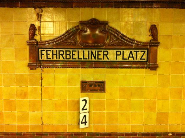 Berlin U-Bahn station signage