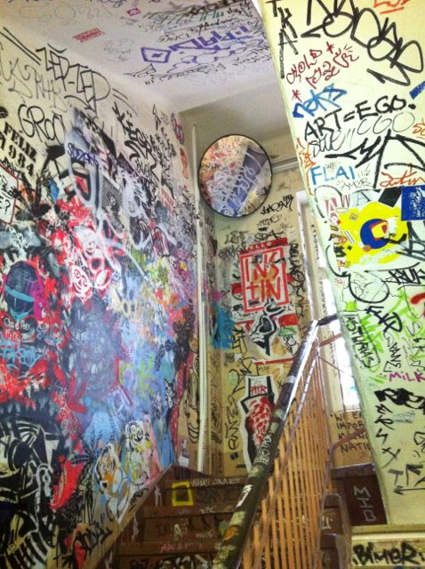 Graffiti in a stairway near Hackesche Höfe