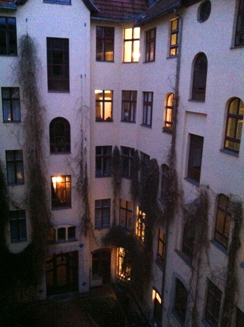 Typical Berlin courtyard, art nouveau building in Charlottenburg