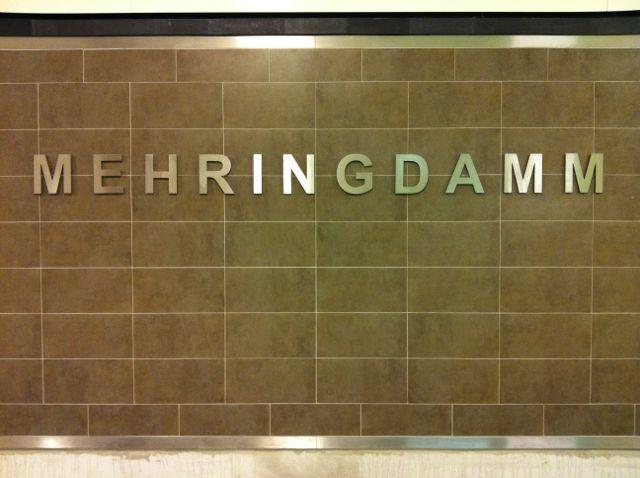 Beriln subway signage