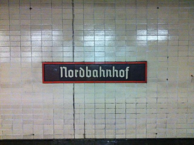 Berlin subway signage