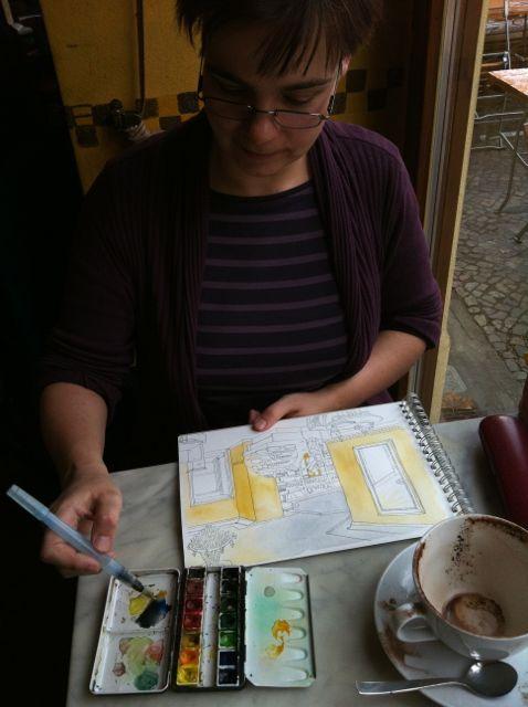 Katrin sketching