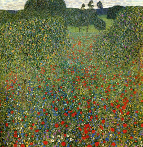 """Poppy Field"" by Gustav Klimt"