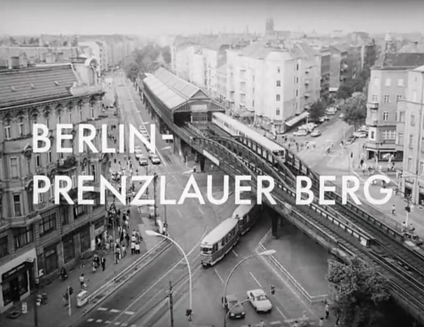 Opening still from the Berlin-Prenzlauer Berg documentary by Petra Tschörtner